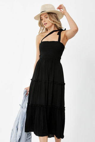 Erin Shirred Maxi Dress