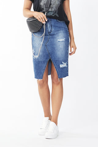 Samantha Longline Denim Skirt