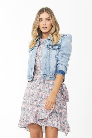 Casey Puff Sleeve Denim Jacket