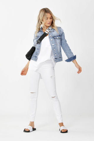 Luxe Highrise Distressed Jean