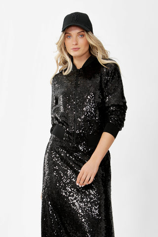Jules Sequin Bomber Jacket