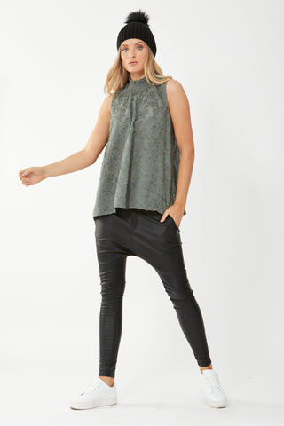Bella Sleeveless Burnout Top