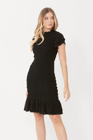 Lou Shirred Mini Dress