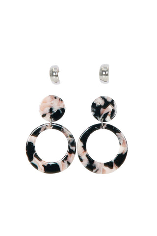 Odette Resin Earrings 2 Pack