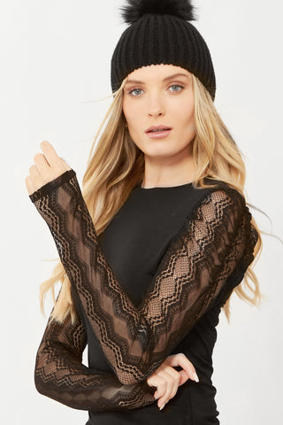 Mabel Lace Long Sleeve Tee