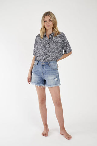 Jade Cropped Shirt
