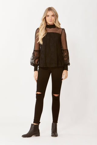 Michelle Lace Top