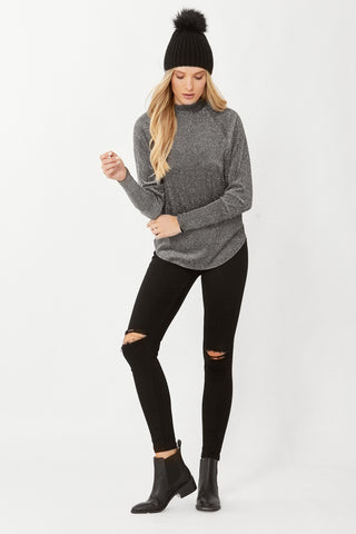 Nadia Glitter Long Sleeve Top