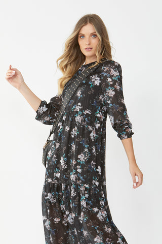 Dana Tiered Midi Dress