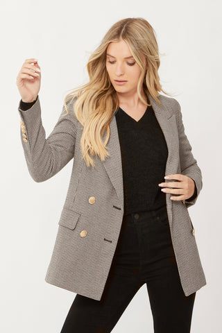 Hailey Boyfriend Check Blazer