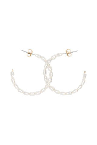 Bianca Pearl Hoop Earrings