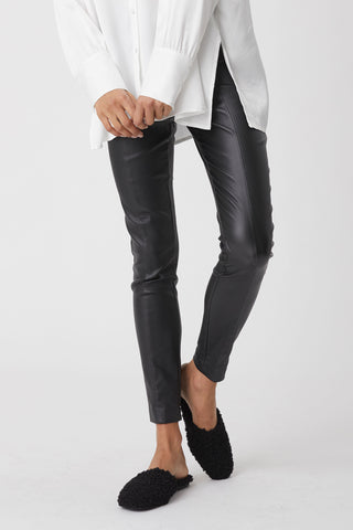 Stevie Panelled Wetlook Pant