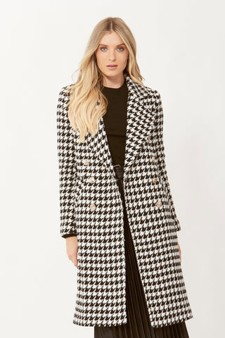 Willow Wool Check Coat