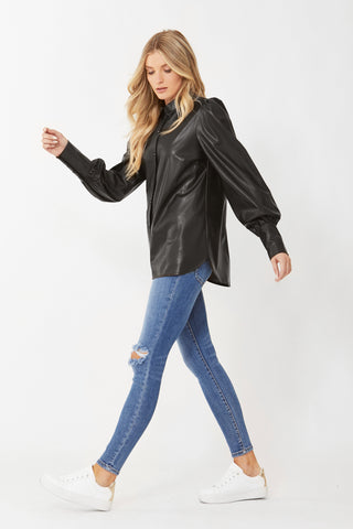 Blake Faux Leather Shirt