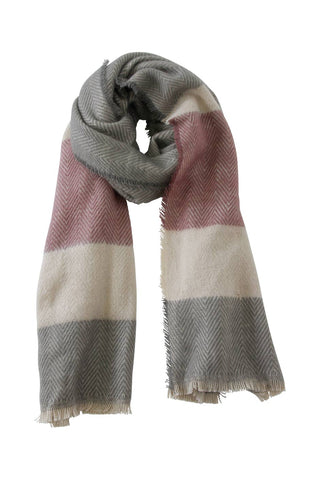 Striped Herringbone Scarf