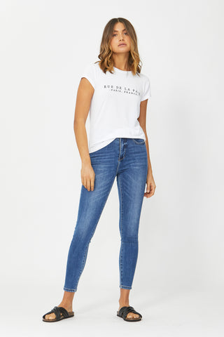 Rue De La Paix Embroidered Tee