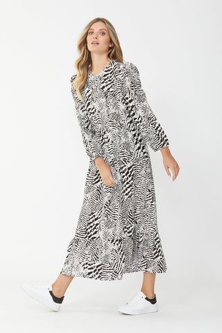 Casey Puff Sleeve Midi Dress