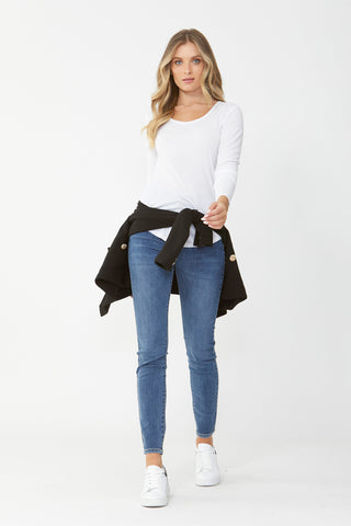 Carla Long Sleeve Rib Tee