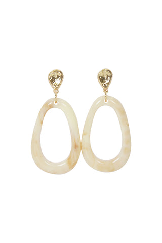 Hoda Oval Drop Earrings