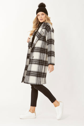Rani Check Car Coat