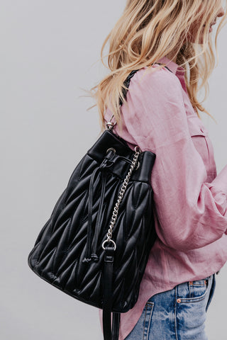 Katia Quilted Bucket Bag