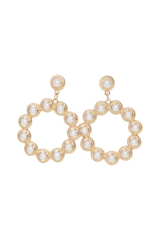 Evie Pearl Circle Earrings