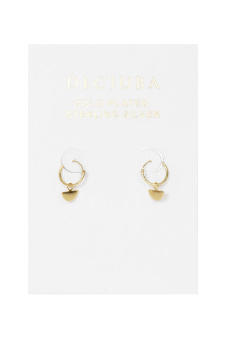 Half Circle Drop Hoop Earrings
