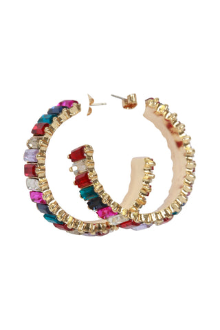 Hattie Jewel Hoop Earrings