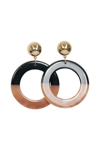 Hilary Resin Circle Earrings