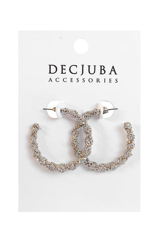 Iris Crushed Hoop Earrings