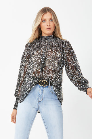 Jazzy Shirred Top