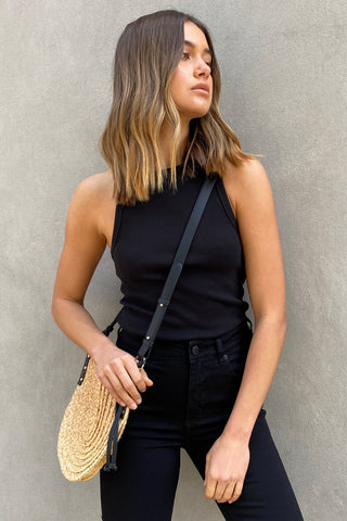 Darby Straw Crossbody Bag