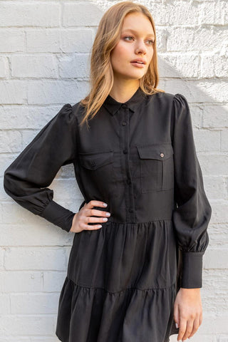 Kym Tiered Shirt Dress