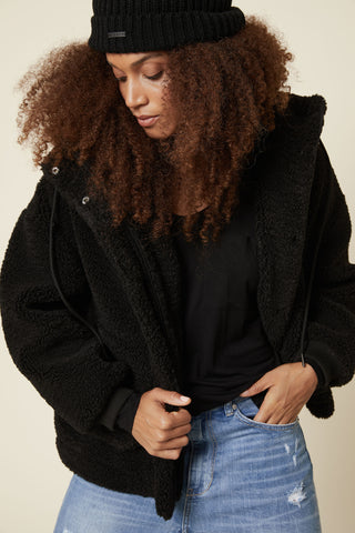 D-Luxe Hooded Teddy Jacket
