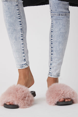 Farrah Faux Fur Slide
