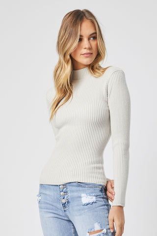 Remy Shoulder Pad Rib Knit Top