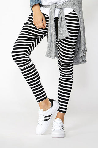 Luxe Stripe Drop Crotch Pant