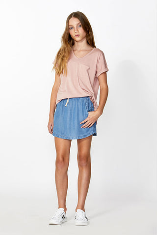 Kids Mini Drawstring Skirt