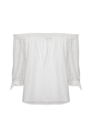 Kids Off Shoulder Woven Top