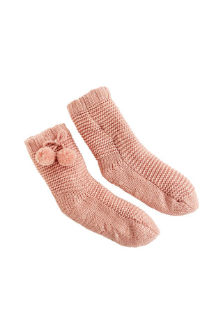 Kids Pom Pom Slipper Socks