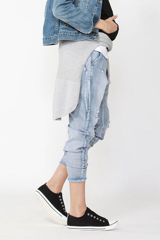 Kids Ripped Drop Crotch Jean