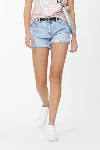 Kids Rolled Hem Denim Short