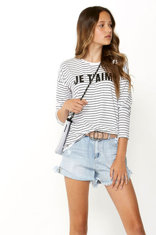 Kids Je T'aime Long Sleeve Tee