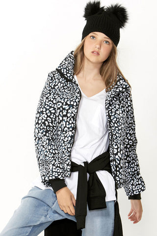 Kids Printed Cropped Puffer