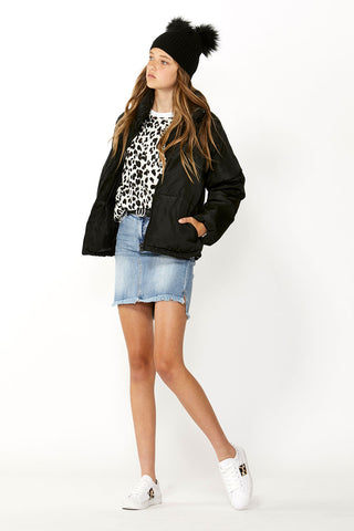 Kids Cropped Puffer Jacket