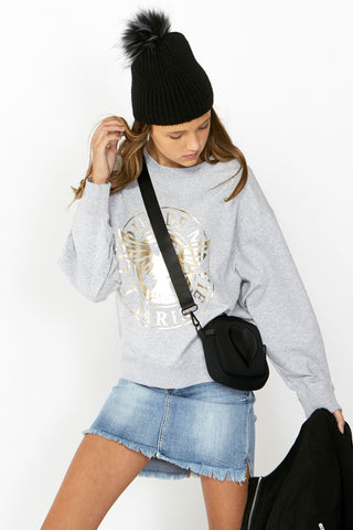 Kids Cropped Crew Sweat
