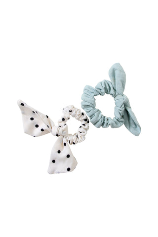 Kids Bow Scrunchie 2 Pack