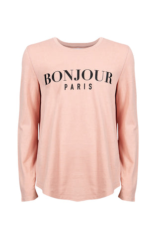 Kids Bonjour Long Sleeve Tee