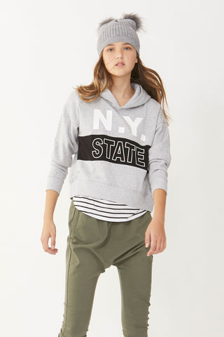 Kids NY State Cropped Sweat