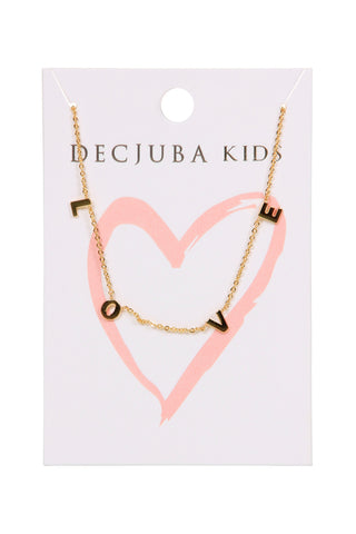 Kids LOVE Letter Necklace